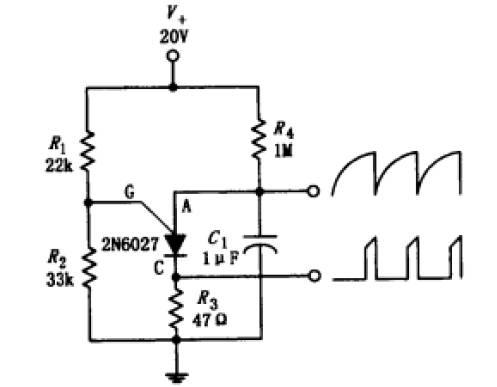 一天一个电路分析-第七弹(程控单结晶体管(PUT管)弛张振荡器)