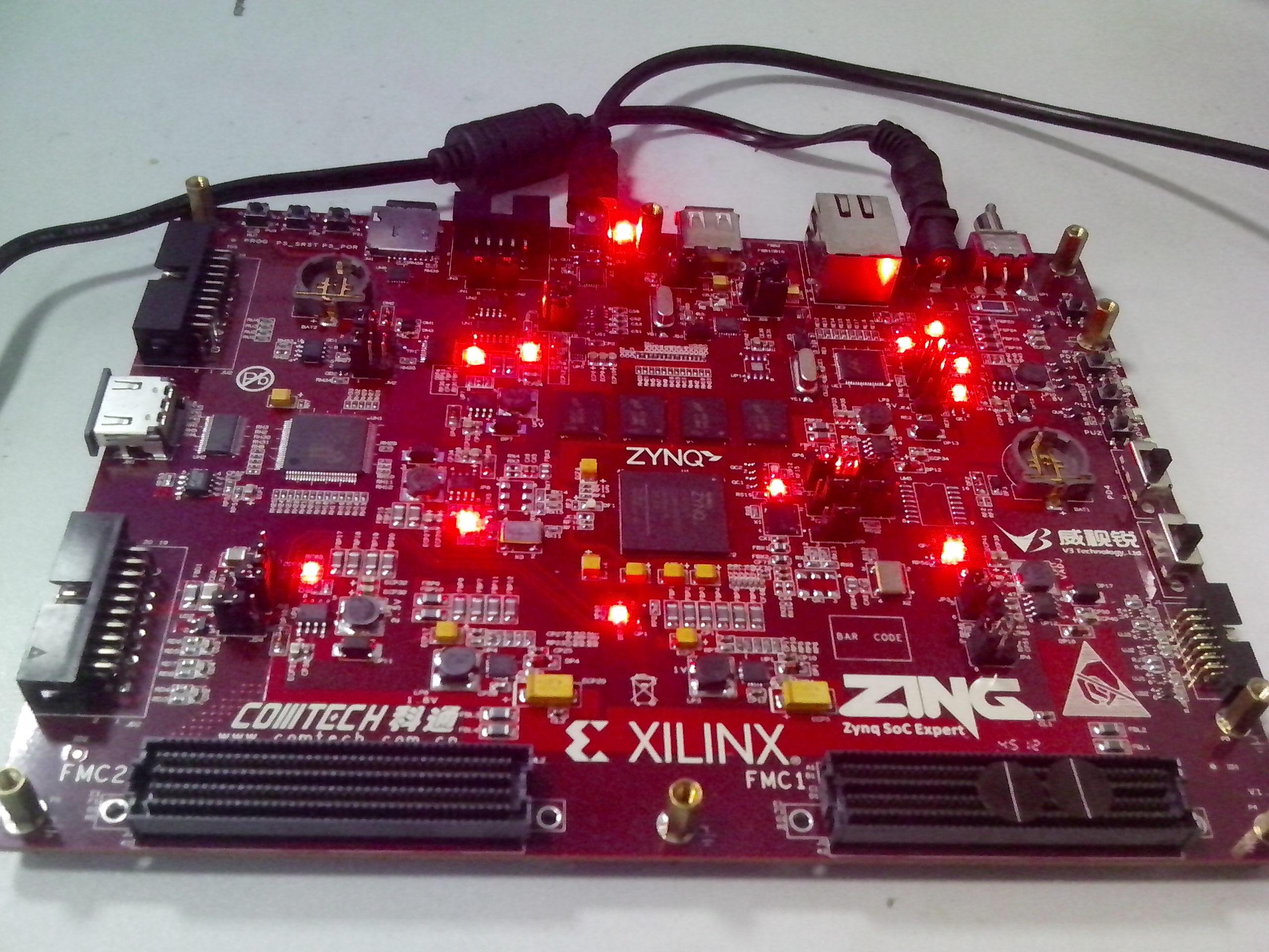 Zing开发板上电