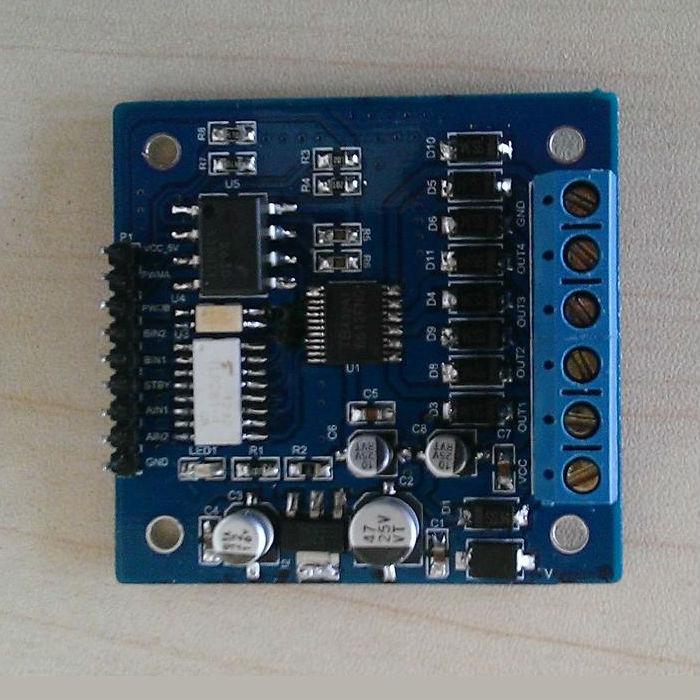 有光电隔离的TB6612FNG直流电机/步进电机驱动板