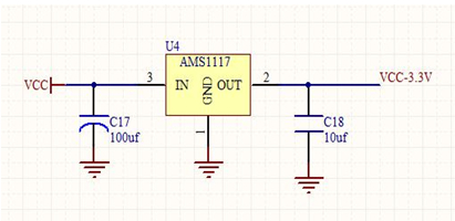 3v稳压芯片,具体的稳压转换电路如下图2-4-8所示