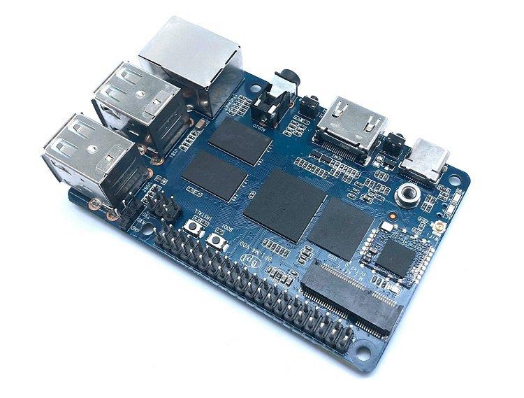 Banana Pi BPI-M4 4核64位开发板,采用RTD1395芯片设计