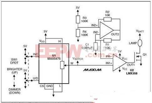 基于数字分压器的车灯调光节能设计方案