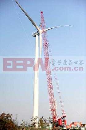 倾角传感器在风力发电机塔吊上的应用