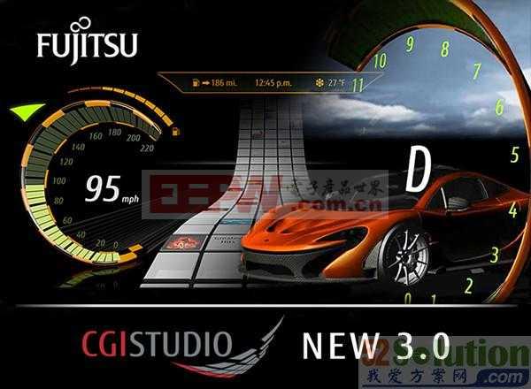 富士通CGI Studio实现车用嵌入式智能人机接口设计