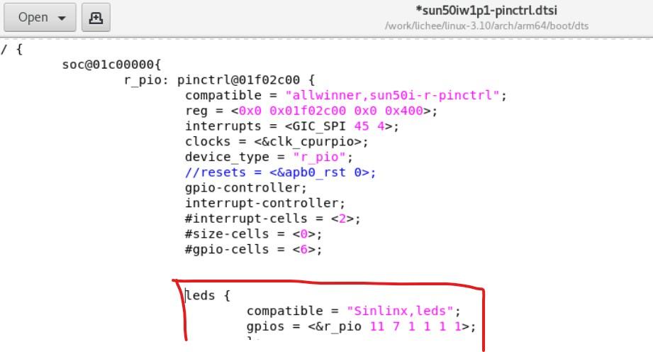 芯灵思Sinlinx A64 linux 通过设备树写LED驱动(附参考代码,未测试)