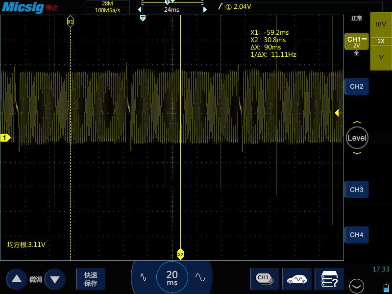 3示波器测量汽车曲轴位置传感器信号及波形分析.png