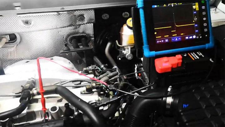 汽车专用示波器检测喷油嘴(汽油机)波形信号及分析
