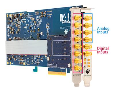 Spectrum PCIE数字化仪新增8个额外数字输入