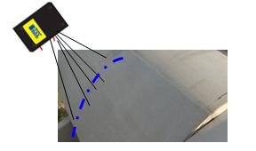 激光扫描传感器测量铝合金工件截面轮廓