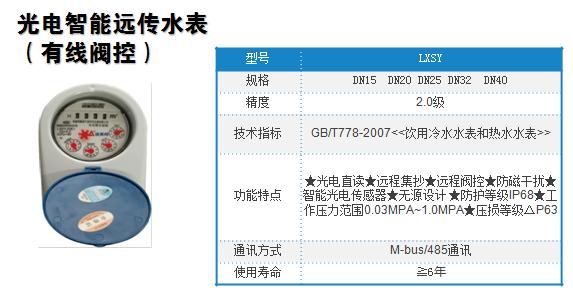 深圳合众致光电直读远传阀控表,智慧园区水量计量