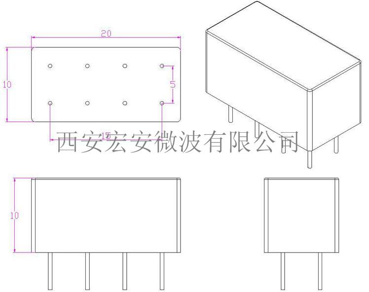 BPF27-32M LC 滤波器-外形尺寸.jpg