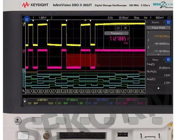 怎样用数字示波器测量2Hz脉冲信号?