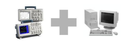 示波器怎么连接计算机与电脑连接方法。