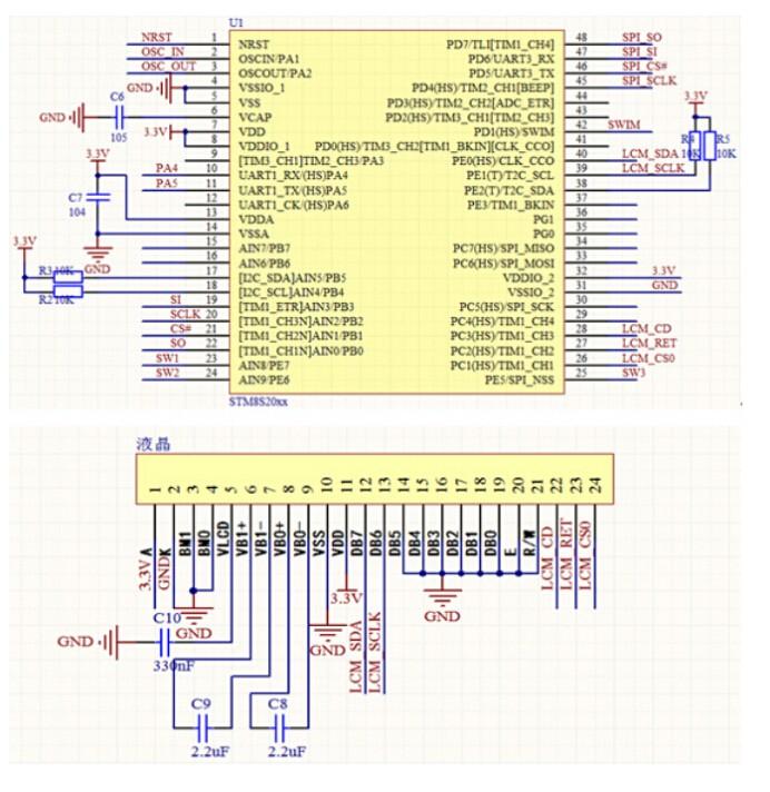 高通LCD点阵字库显示方案 — 基于STM832的128X64显示