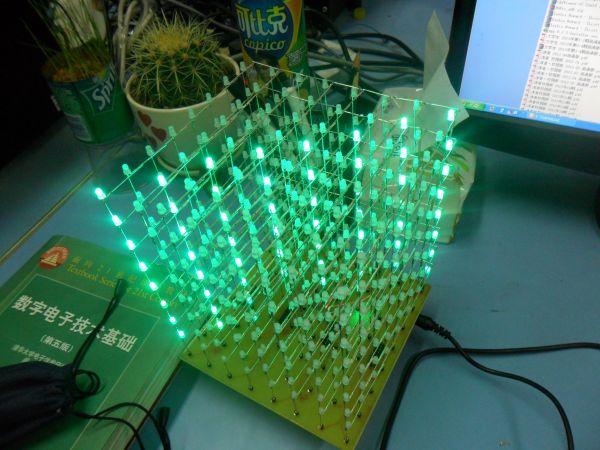 趣味实践:[51单片机] 光立方—共阳极原理图及PCB,实物图,实验室可做 E1de092b5fdba80d08aea1b9d563edf6