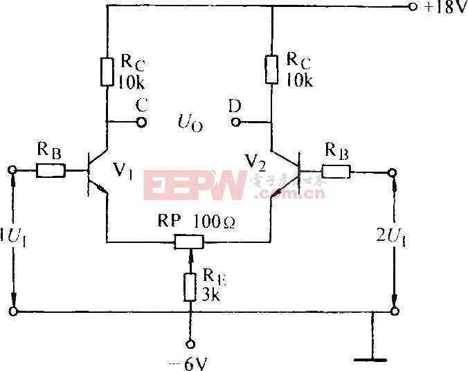 双端对称输入差动放大器电路图