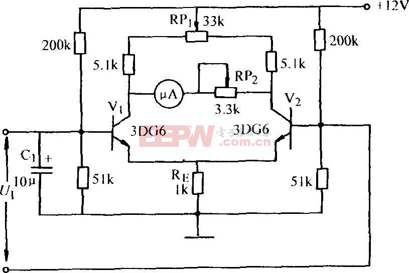 测量微小电流的放大器图