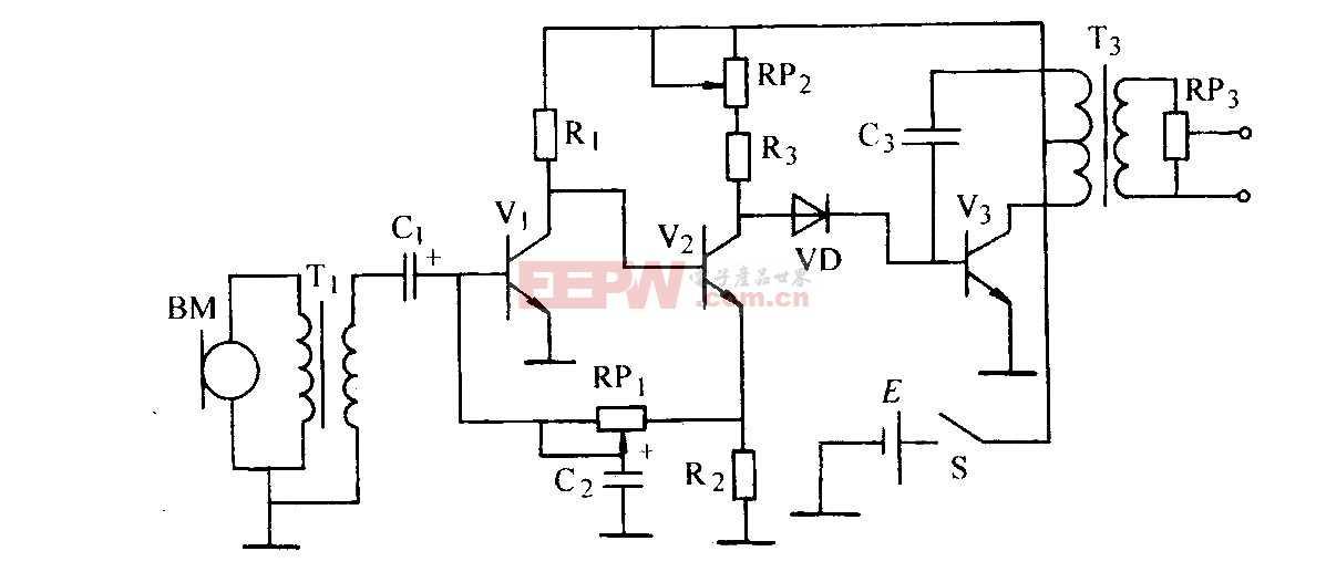 变压器、阻容与直接耦合放大器电路图