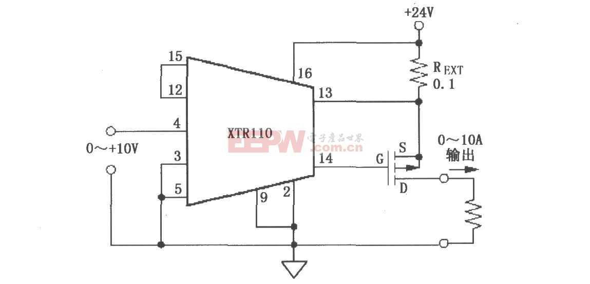 XTR110电压-电流变换器电路图