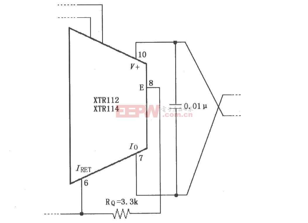 XTR112/114不用外部晶体管的电路图