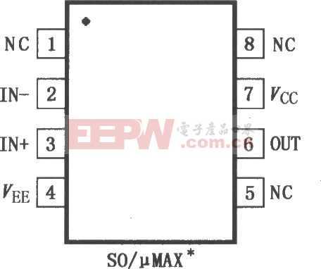 500MHz低功率運算放大器MAX4100/4101引腳圖