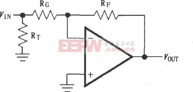 由MAX4102/4103构成的反相增益电路图