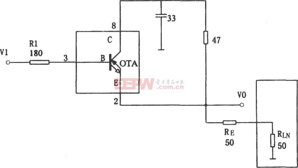 极宽带大电流缓冲器电路图