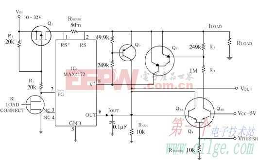 用MAX4172构建32V的电路断路器