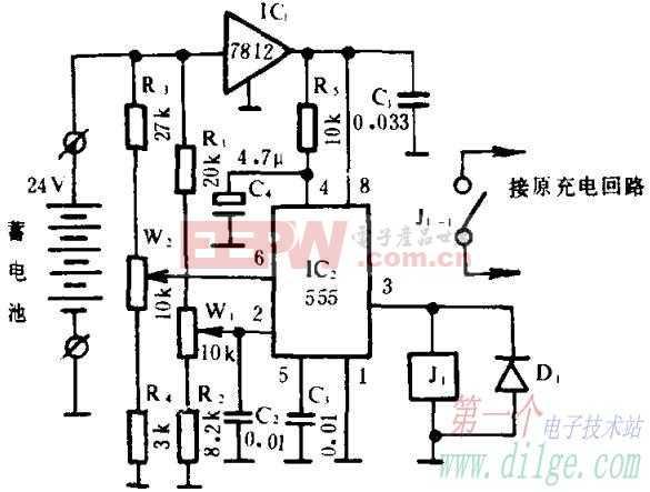 不间断电源蓄电池电压监控器电路