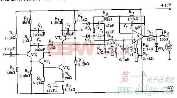 宽带平均值检波方式AC-DC转换电路