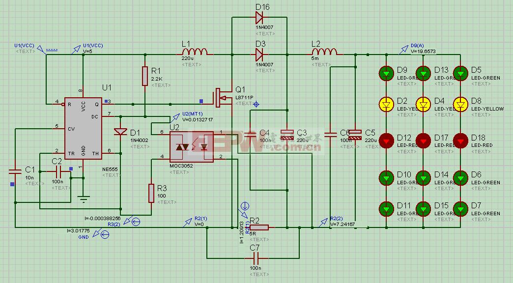 一款基於555的開關電源設計