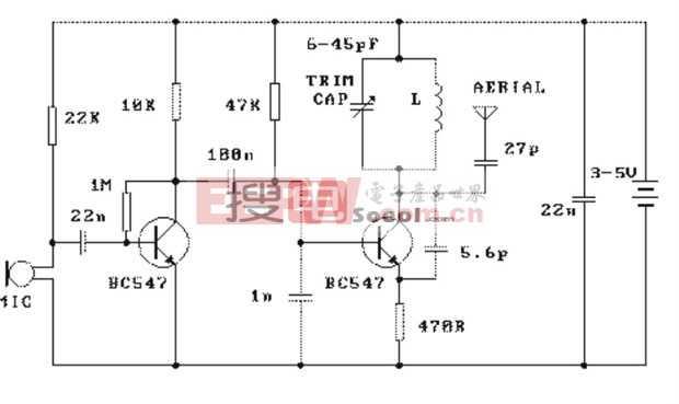 3V微型無線話筒電路圖