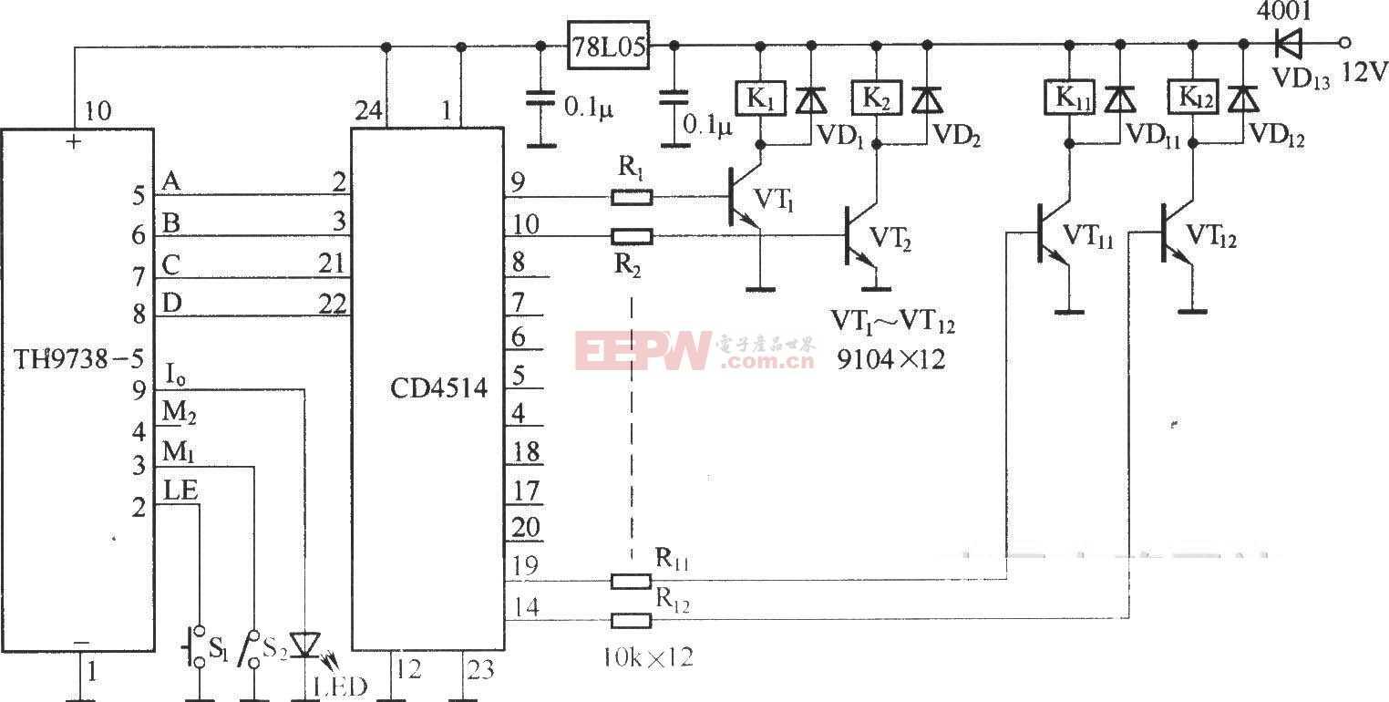 電風扇紅外遙控電路(長城FS22-40)