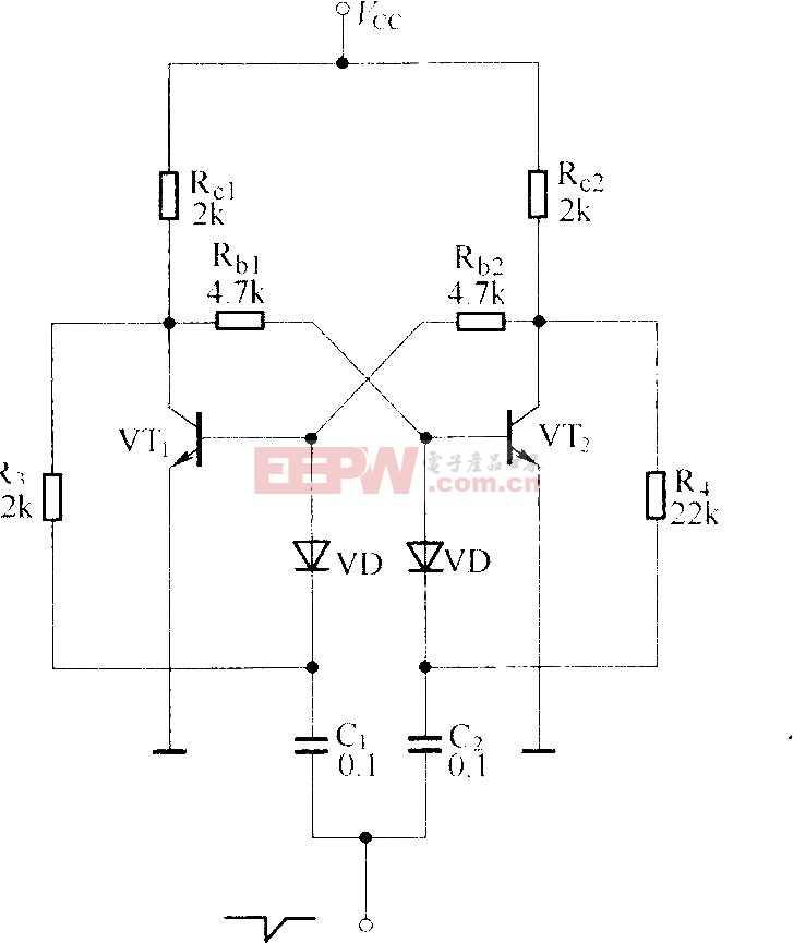 晶體管雙穩態觸發電路圖
