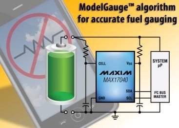 Maxim推出单节和2节电池电量计IC