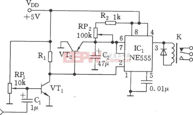 声控继电器电路图