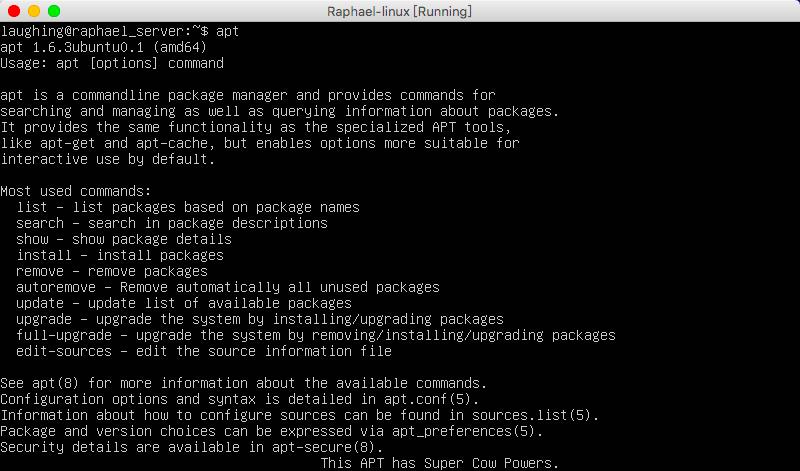 Linux——利用apt进行软件的安装和卸载