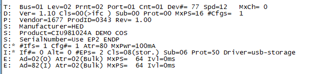 Linux下,查看USB设备信息 速度