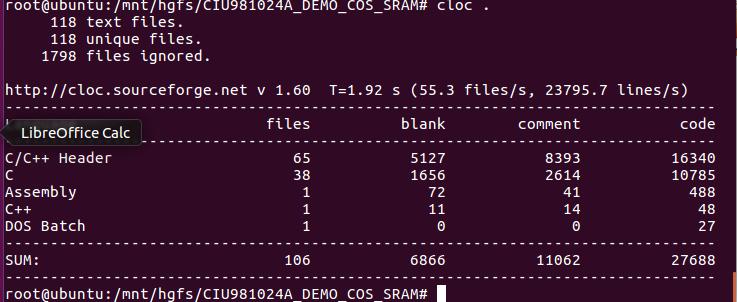 Linux下源代码行数统计工具(sloccount, cloc等)