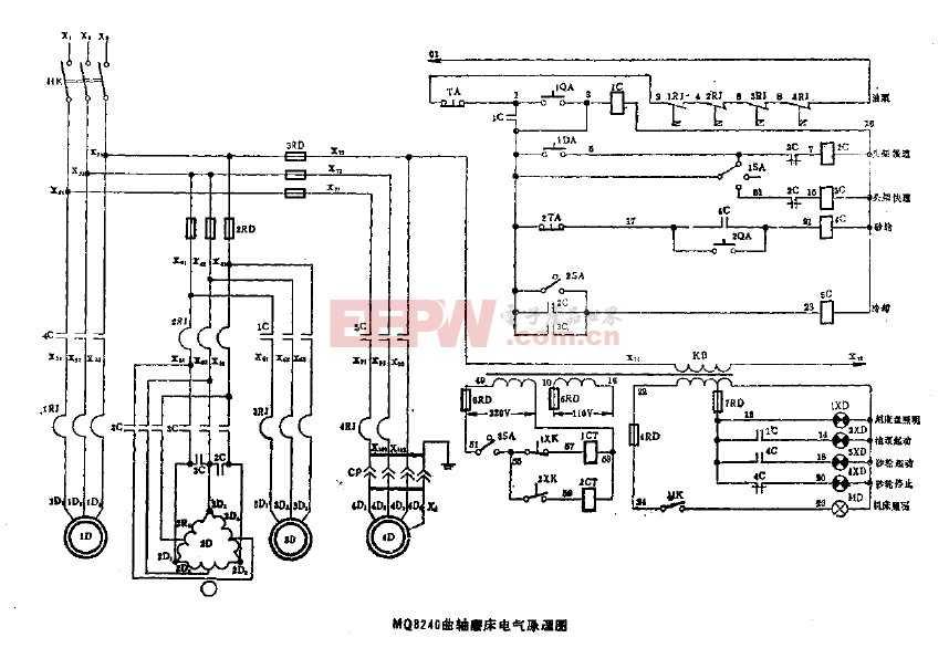 mq8240曲轴磨床电气原理图