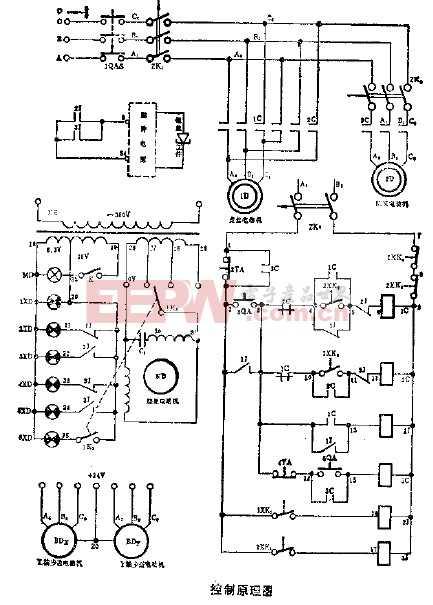 数字控制 线切割 控制原理图 电路图 电子产品 高清图片