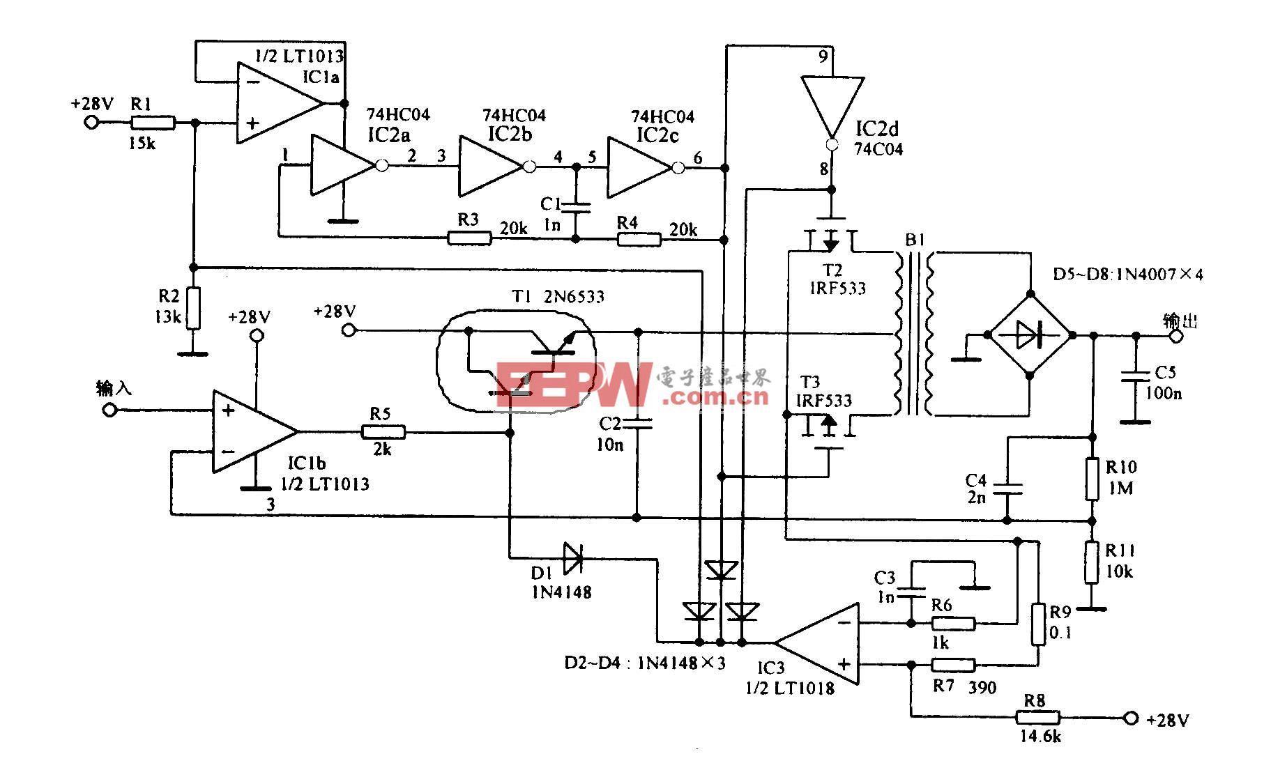 具有l000V输出的放大电路