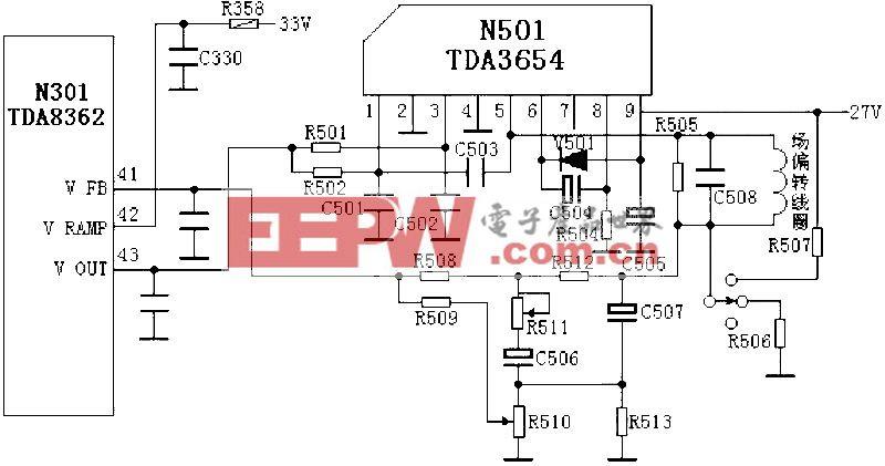 场输出电路:TDA3654