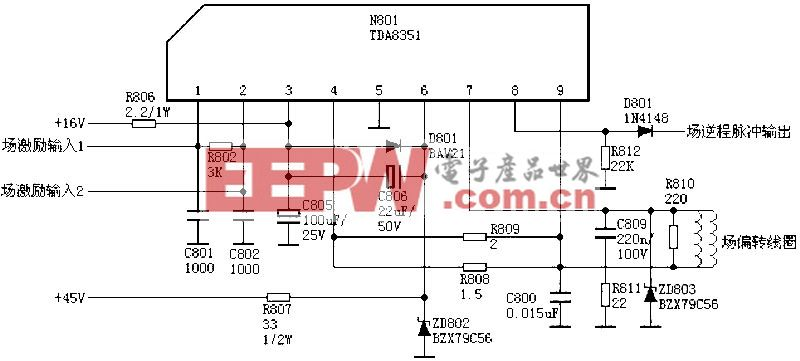 场输出电路:TDA8351