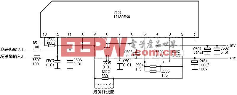 场输出电路:TDA8354Q