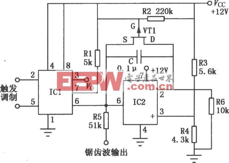 LM555组成的宽动态脉宽调制器