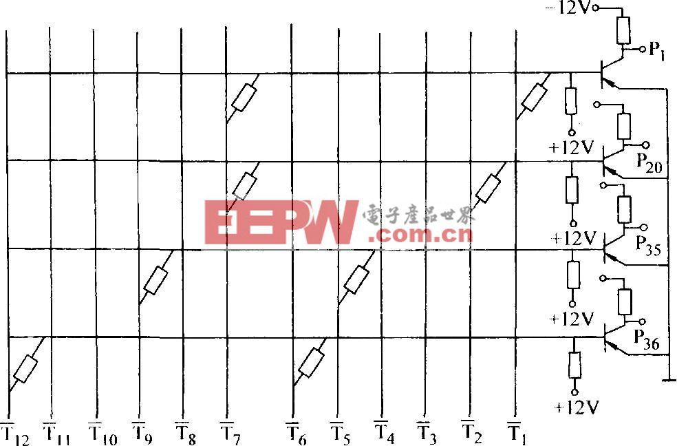 两输入端电阻一晶体管或非门