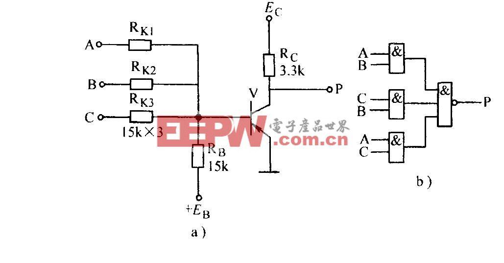 电阻-晶体管门电路