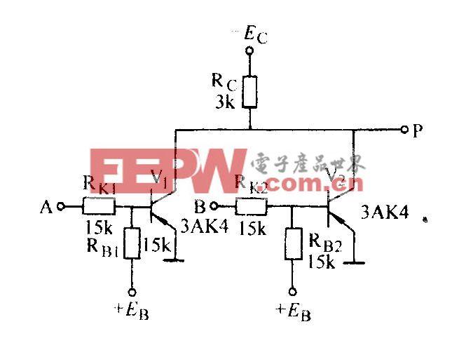 两输入端晶体管或非门电路