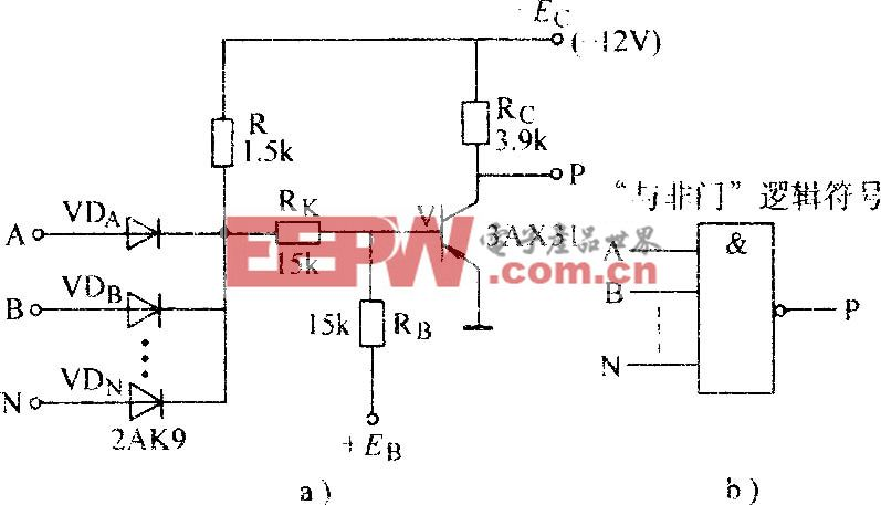 二极管-晶体管与非门